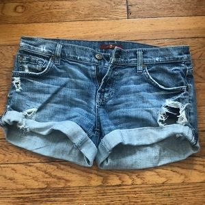7 For All Mankind Boyfriend Jean Shorts